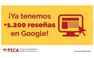 El Parque Empresarial PICA supera las 1.200 reseñas en Google Places