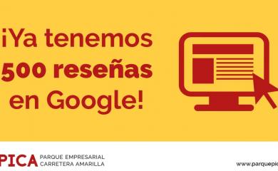 El  PICA acumula más de 500 reseñas en Google incrementando la valoración de los usuarios hasta un 3,7 sobre 5